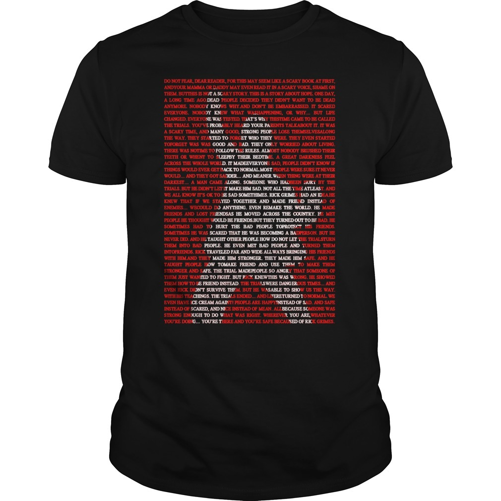 Rick Grimes Commemorative Shirt