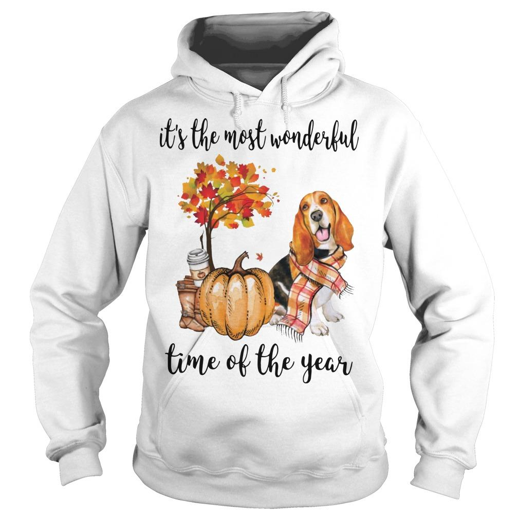 Basset Hound It's The Most Wonderful Time Of The Year Hoodie