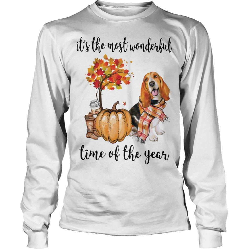 Basset Hound It's The Most Wonderful Time Of The Year Longsleeve