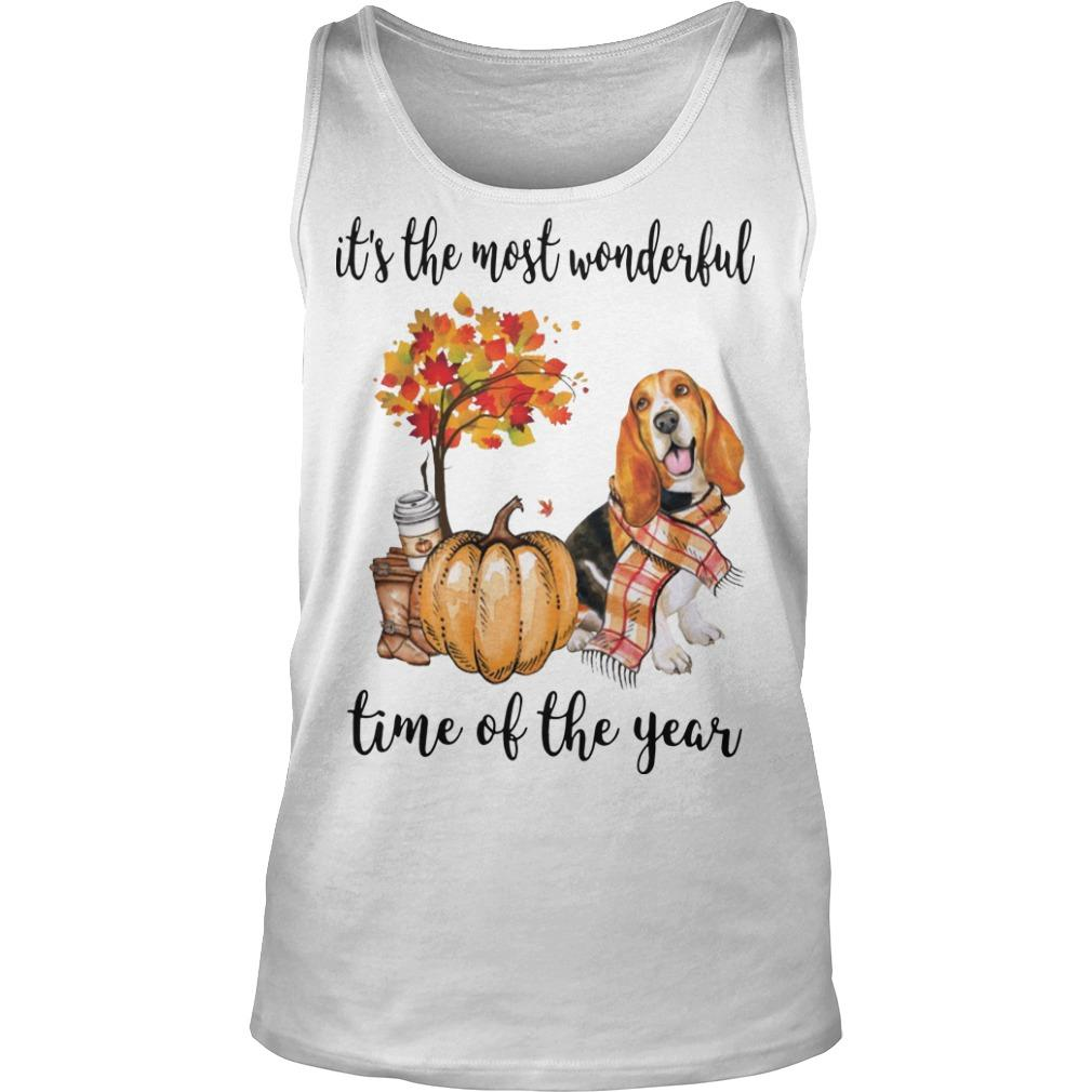 Basset Hound It's The Most Wonderful Time Of The Year Tank Top