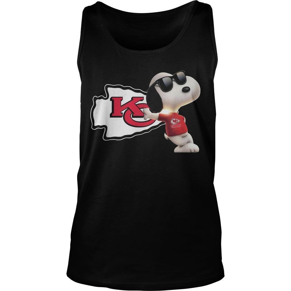 Kansas City Chiefs Snoopy Tank Top