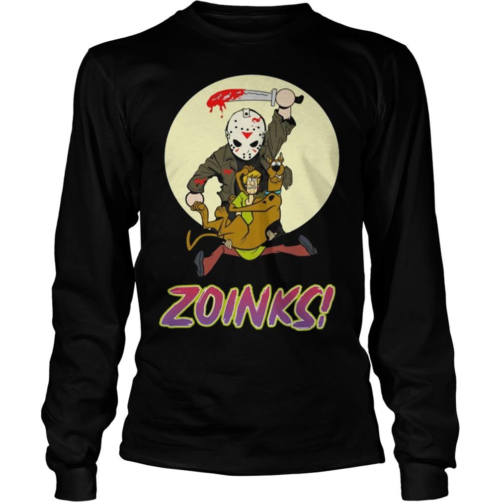 Jason Voorhees Killing Scooby Doo Zoinks Longsleeve