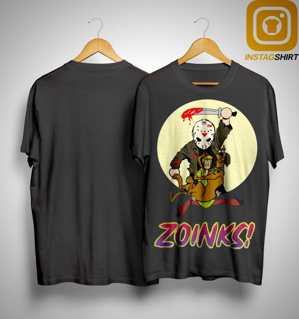 Jason Voorhees Killing Scooby Doo Zoinks Shirt