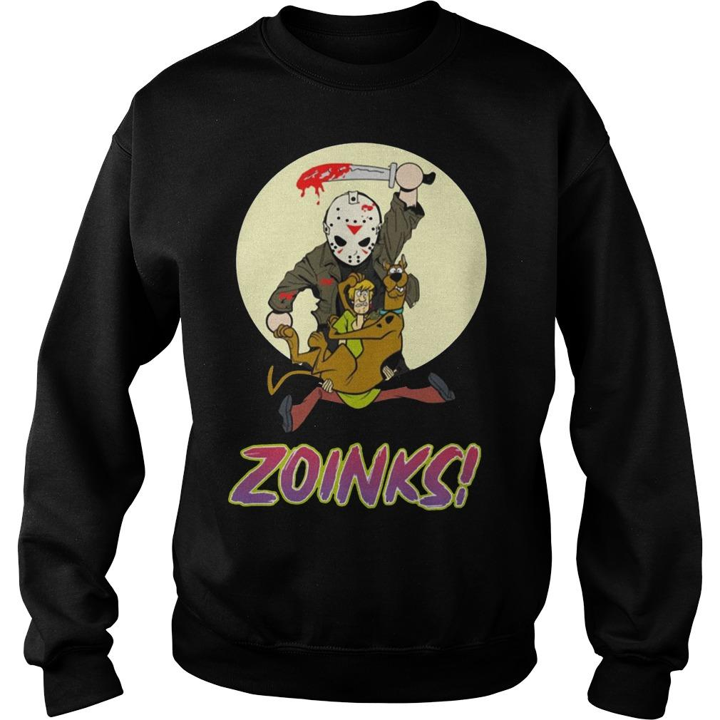 Jason Voorhees Killing Scooby Doo Zoinks Sweater