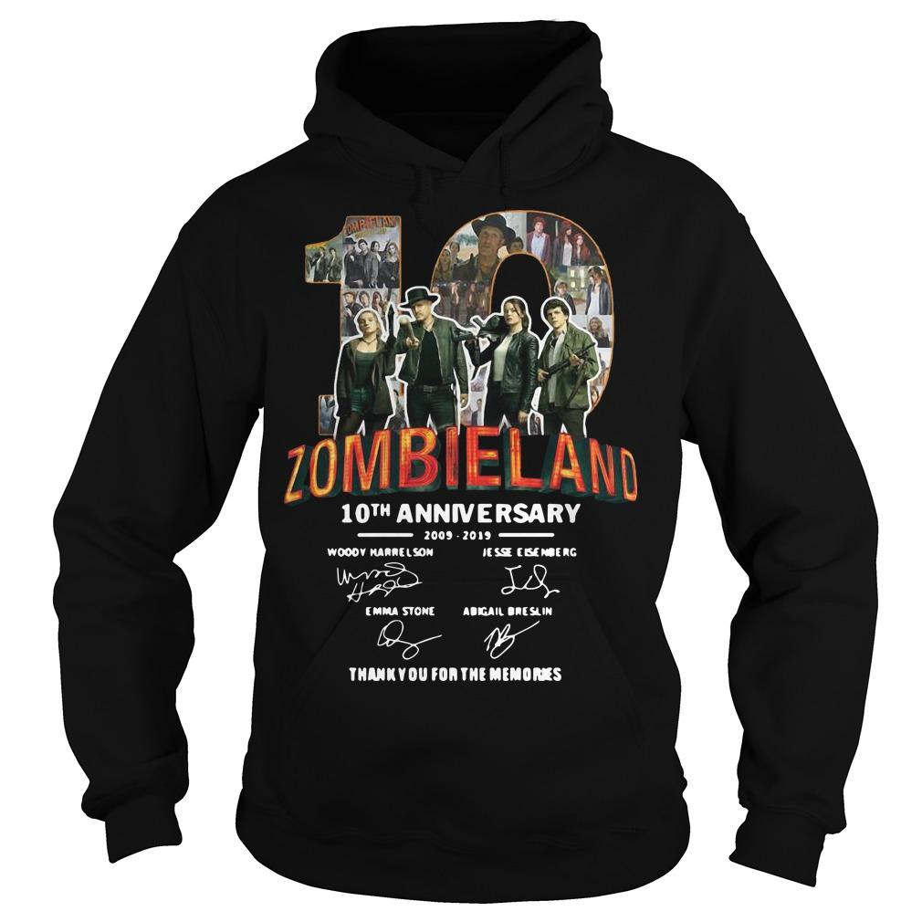 Zombieland 10th Anniversary 2009 2019 Thank You For The Memories Hoodie