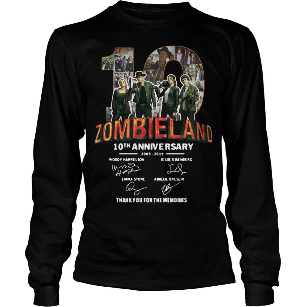 Zombieland 10th Anniversary 2009 2019 Thank You For The Memories Longsleeve