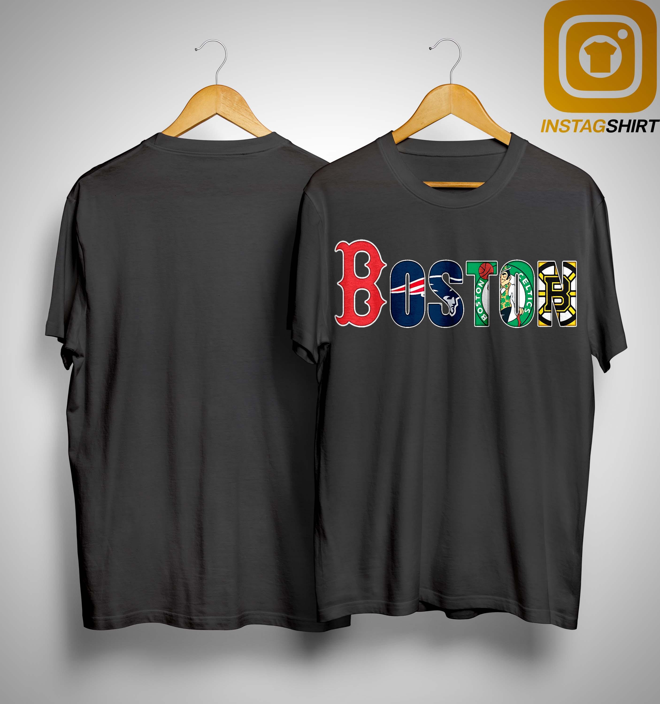 OR Mens Boston Celtics Clover Bruins Patriots Celtics Red Sox T Shirt