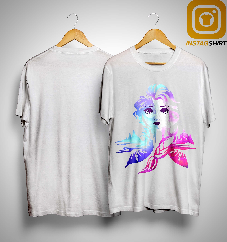 Frozen 2 Elsa Two Tone Gradient Portrait Shirt
