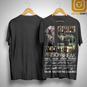 15 Years Of Prison Break 2005 2020 Thank You For The Memories Signatures Shirt