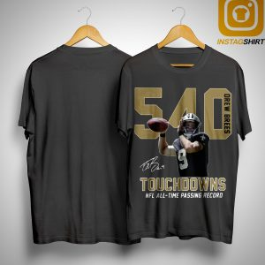 540 Touchdowns Nfl All Time Passing Record Signature Shirt