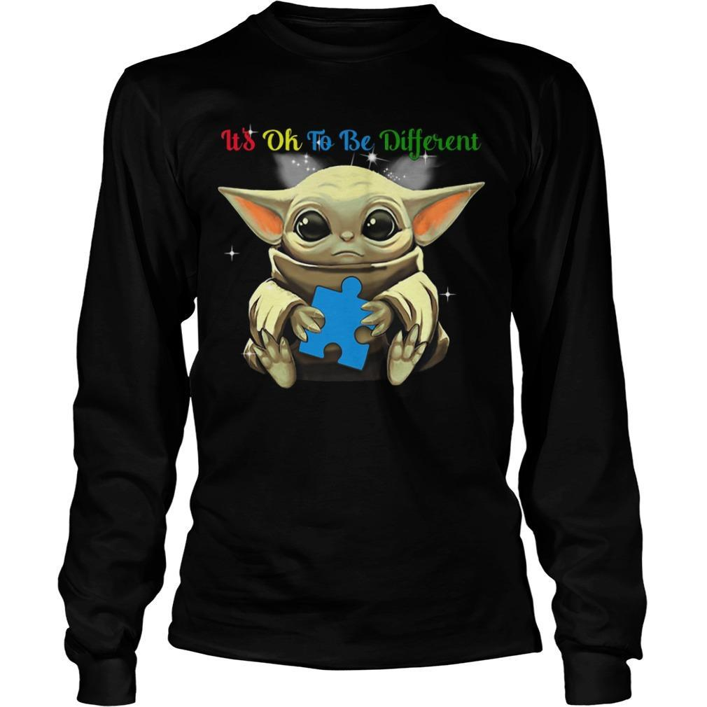 Baby Yoda Autism It's Ok To Be Different Longsleeve