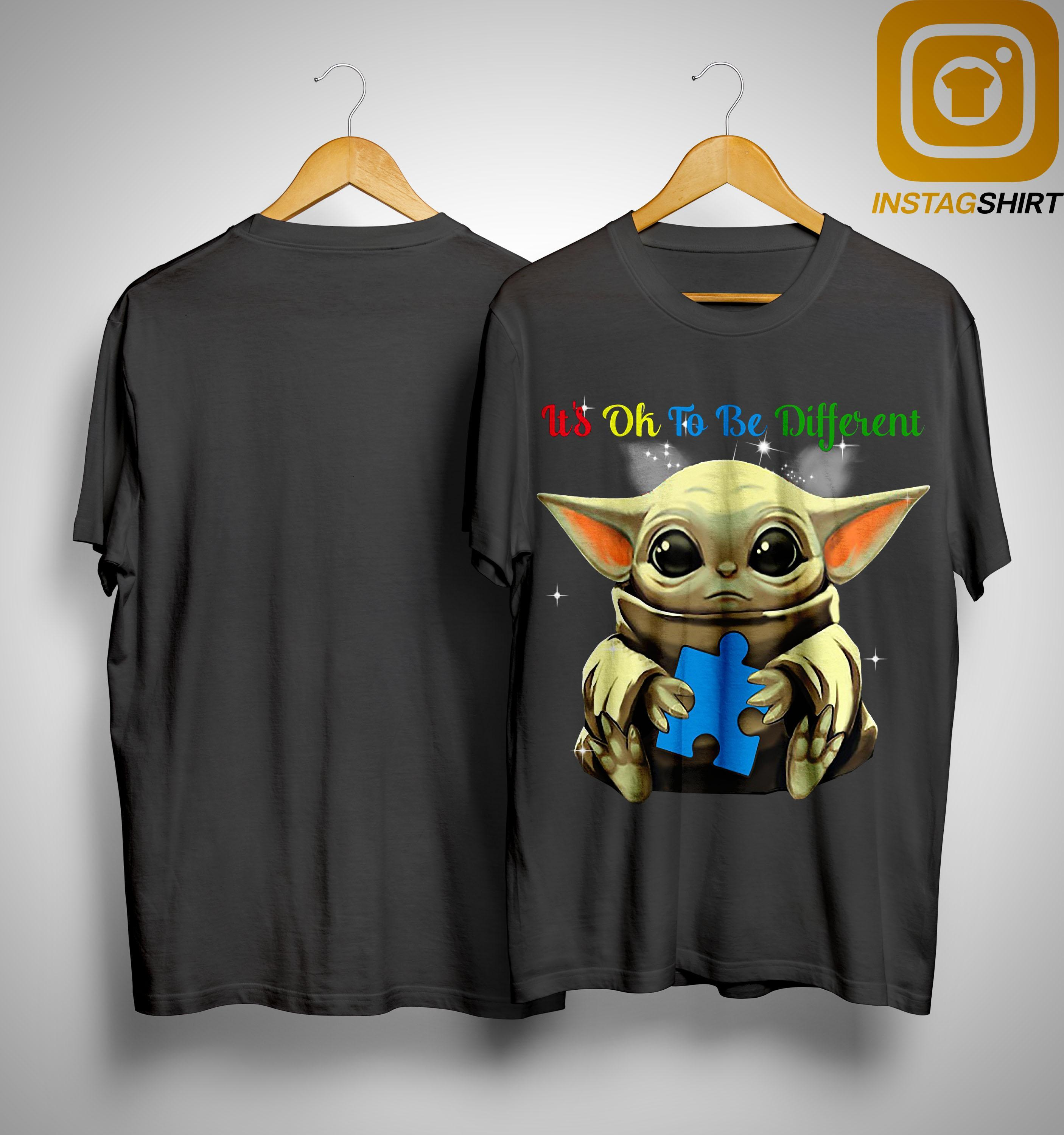 Baby Yoda Autism It's Ok To Be Different Shirt