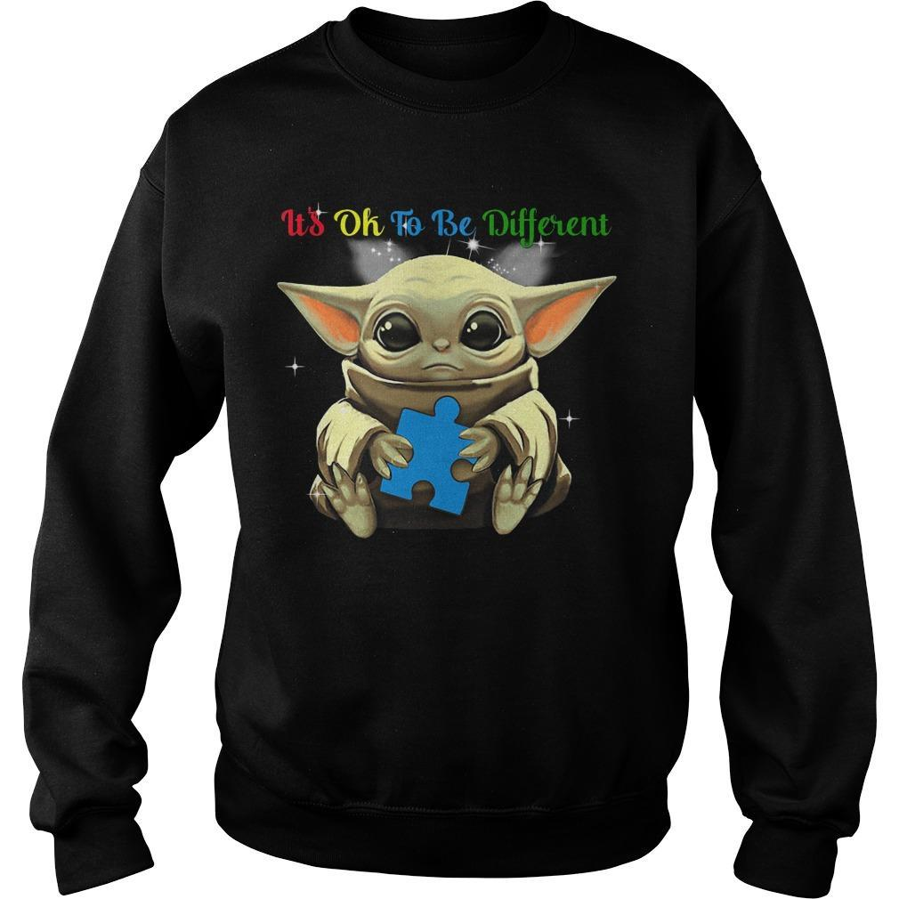 Baby Yoda Autism It's Ok To Be Different Sweater