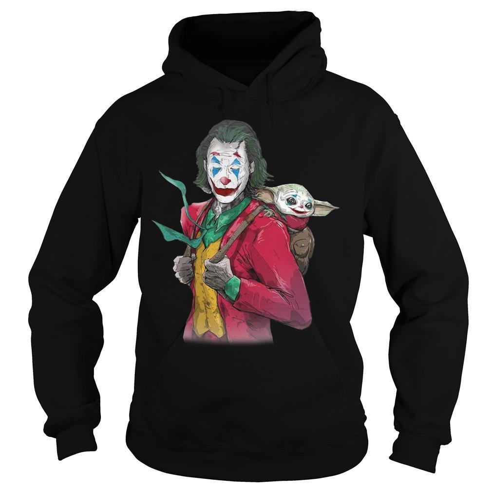 Joker Carrying Baby Yoda On The Back Hoodie