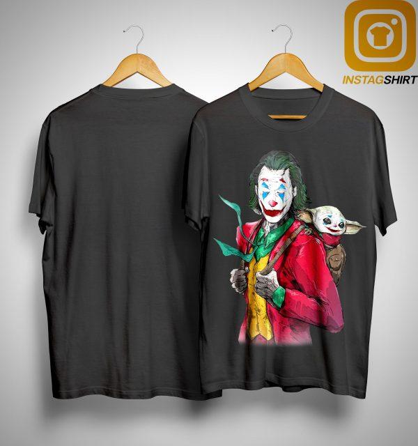 Joker Carrying Baby Yoda On The Back Shirt