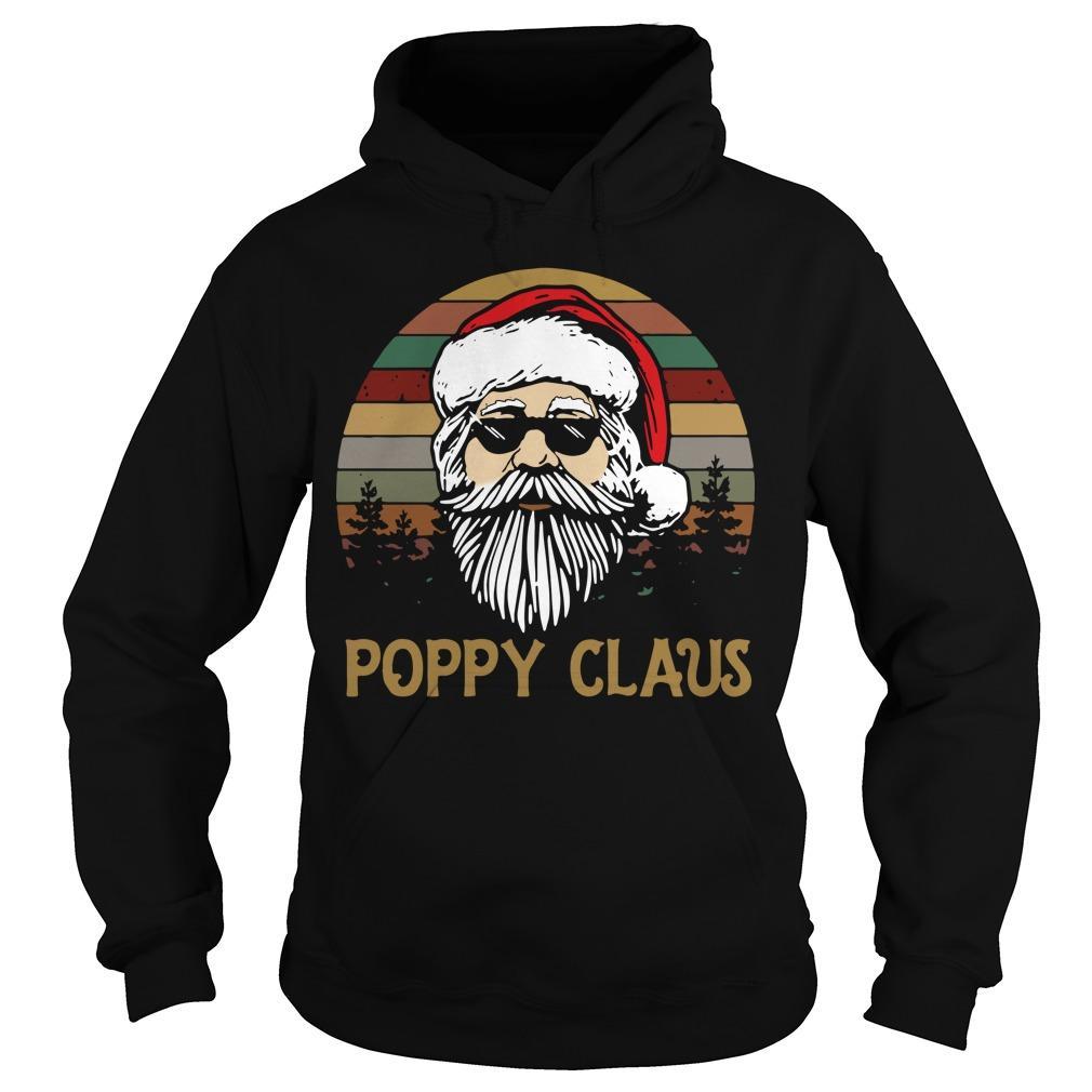Vintage Santa Poppy Claus Hoodie