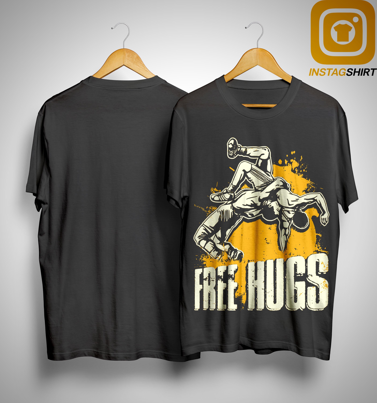 Wrestling Free Hugs Shirt