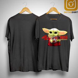 Baby Yoda Hugging 49ers Champions Shirt