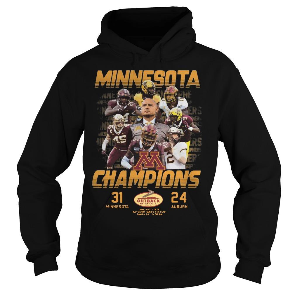 Minnesota Champions 31 Minnesota 24 Auburn Hoodie