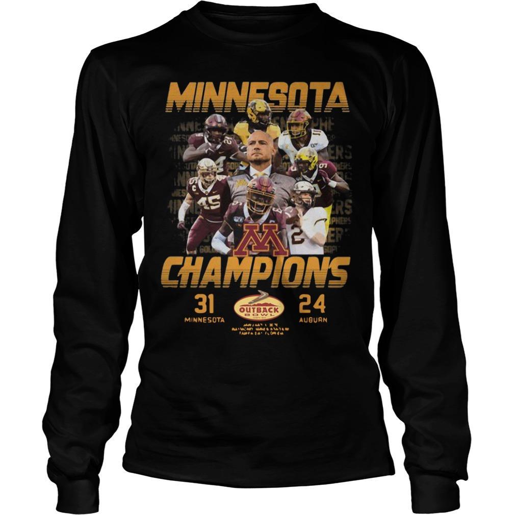 Minnesota Champions 31 Minnesota 24 Auburn Longsleeve