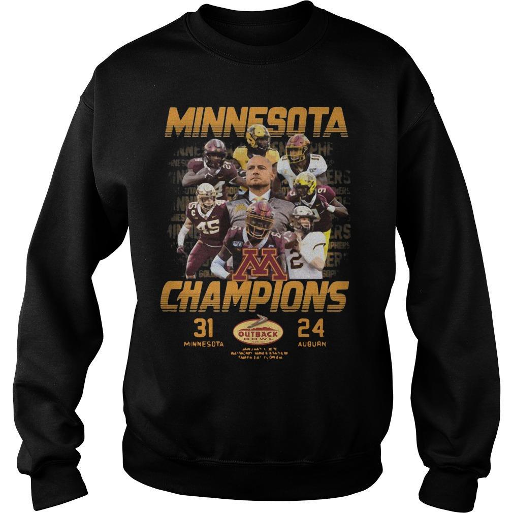 Minnesota Champions 31 Minnesota 24 Auburn Sweater