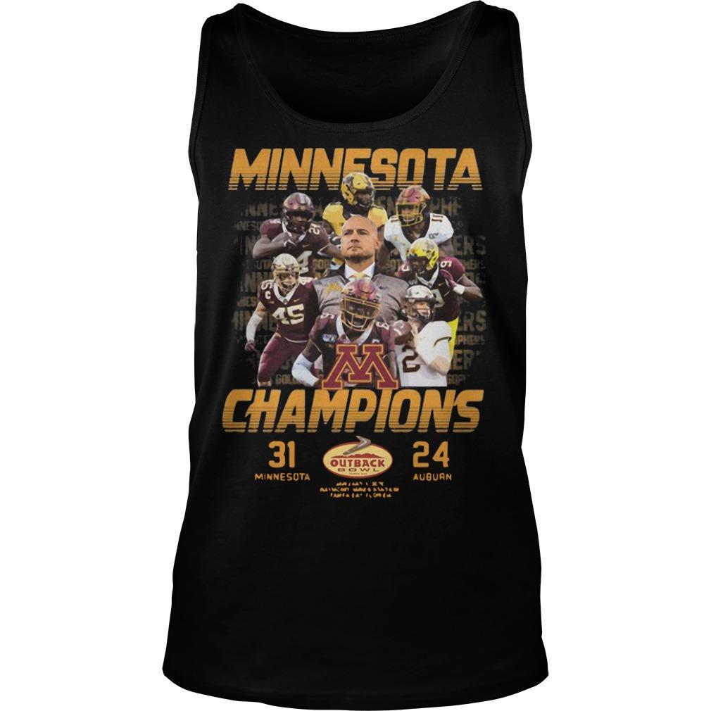 Minnesota Champions 31 Minnesota 24 Auburn Tank Top
