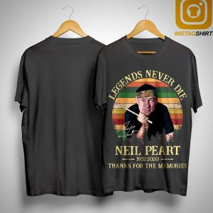 Vintage Legends Never Die Neil Peart Thanks For The Memories Shirt