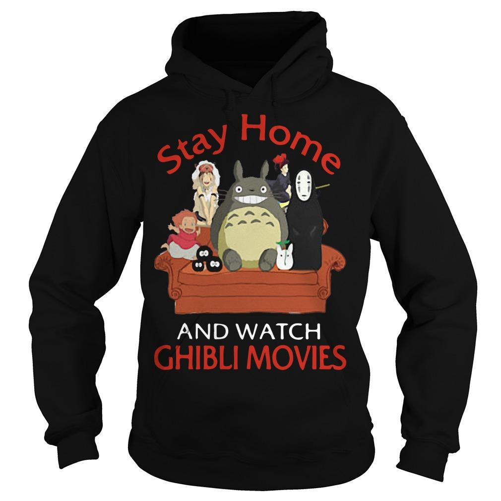 Totoro And Friends Stay Home And Watch Ghibli Movies Hoodie