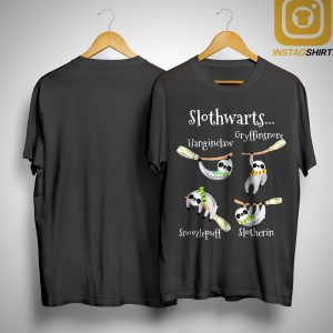 Slothwarts Hanginclaw Gryffinsnore Snoozlepuff Slotherin Shirt