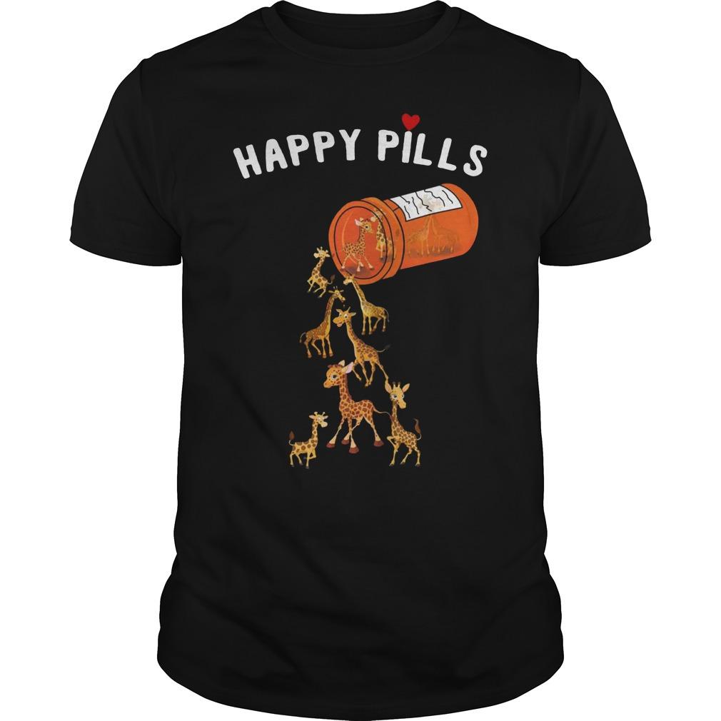 giraffe happy pill shirt