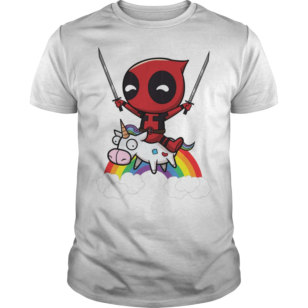 Deadpool Riding A Unicorn Shirt