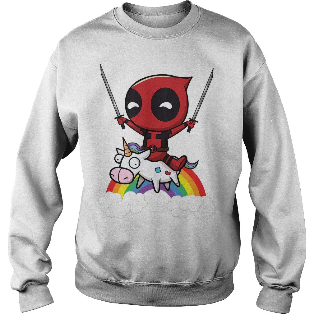 Deadpool Riding A Unicorn Sweater