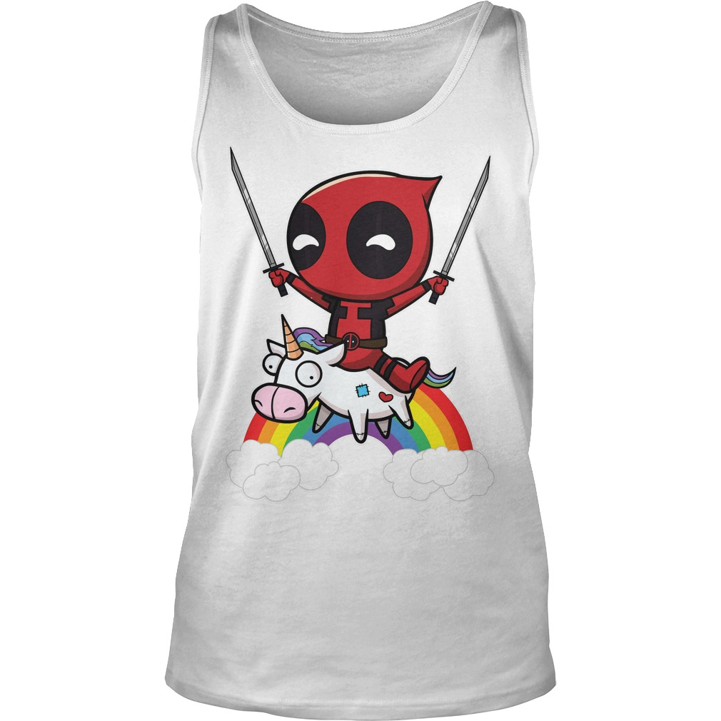 Deadpool Riding A Unicorn Tank Top