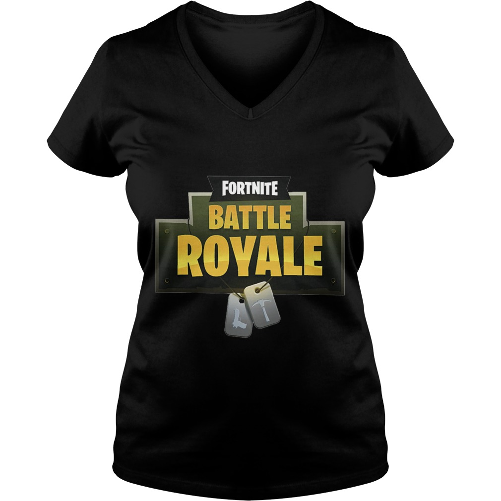 FortNite Battle Royale Ladies V Neck Tee