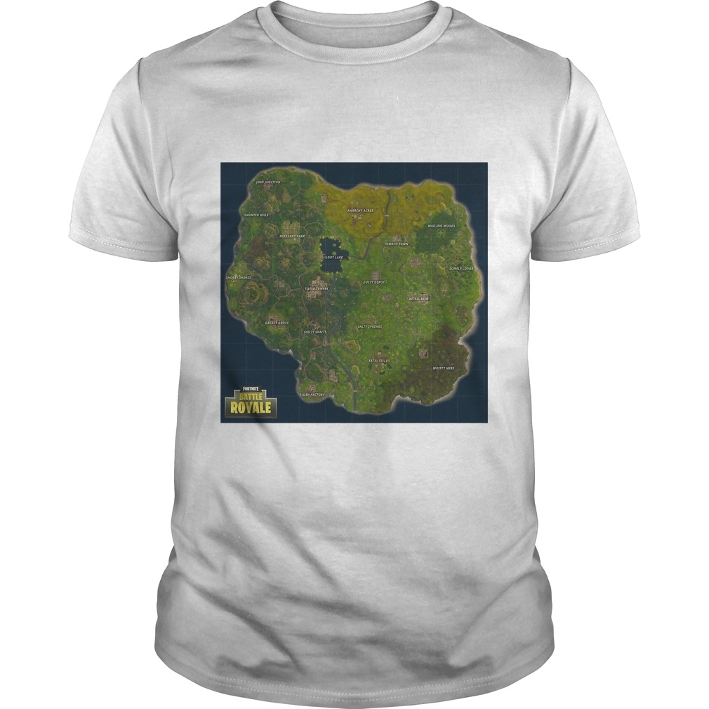 Fortnite Battle Royale Map Shirt