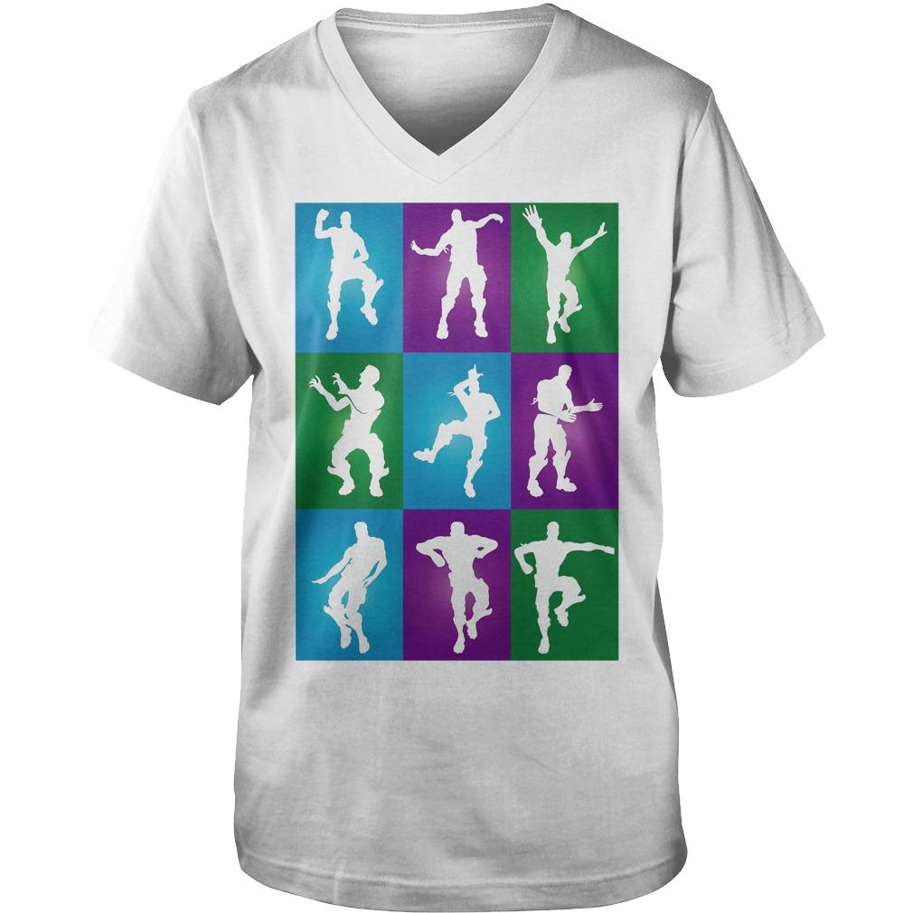 Fortnite Dances V Neck Shirt