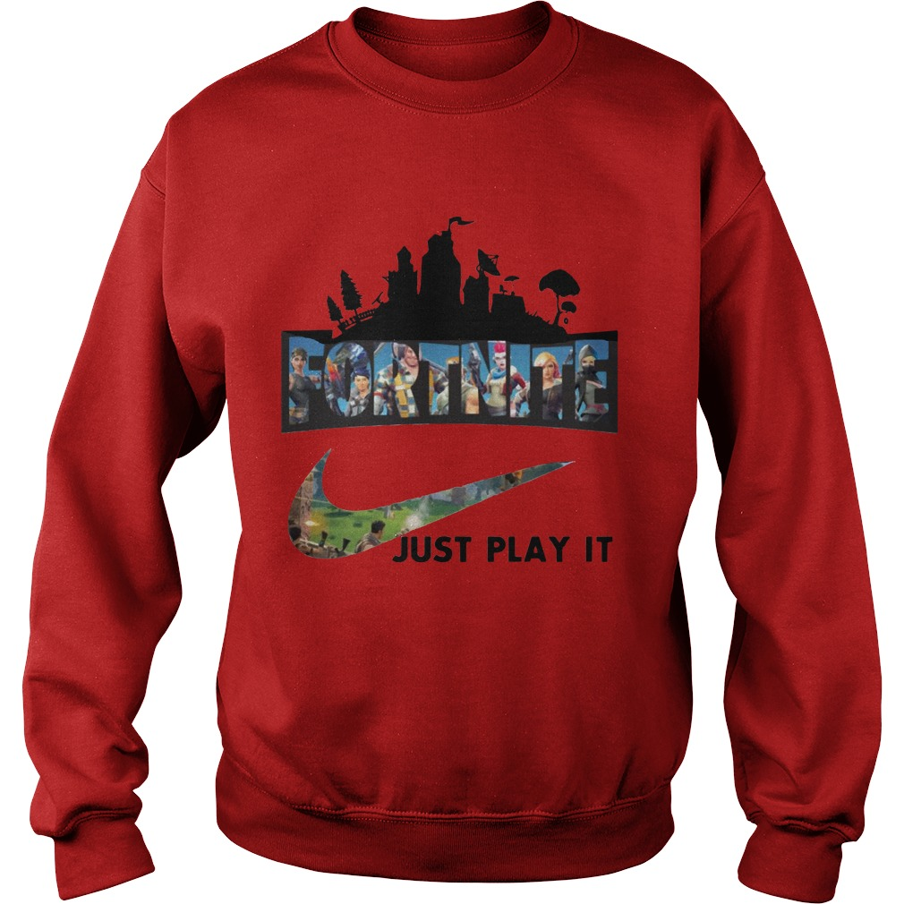 Fortnite Just Play It Red Sweater