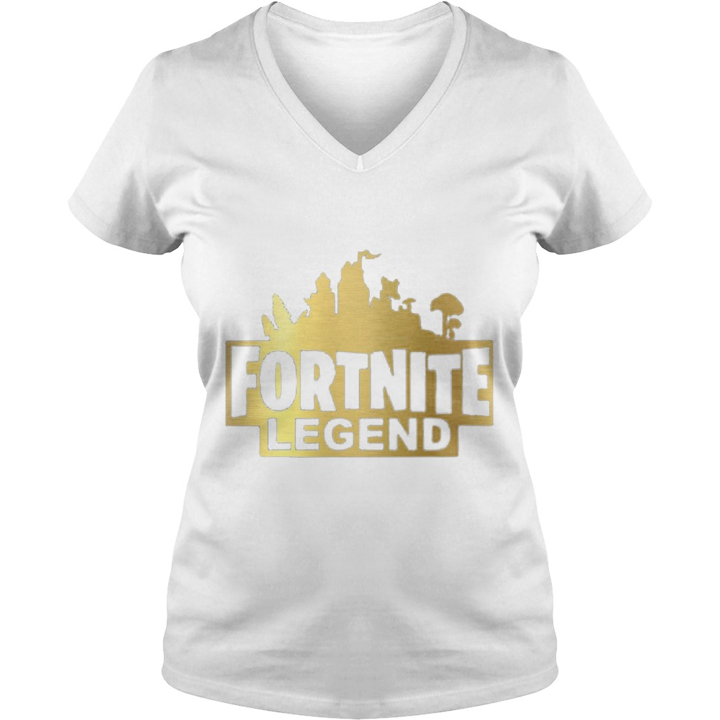 Fortnite Legend Ladies V Neck Shirt