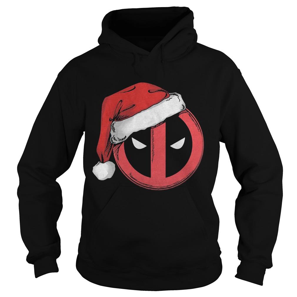 Marvel Christmas Deadpool Santa Hat Hoodie
