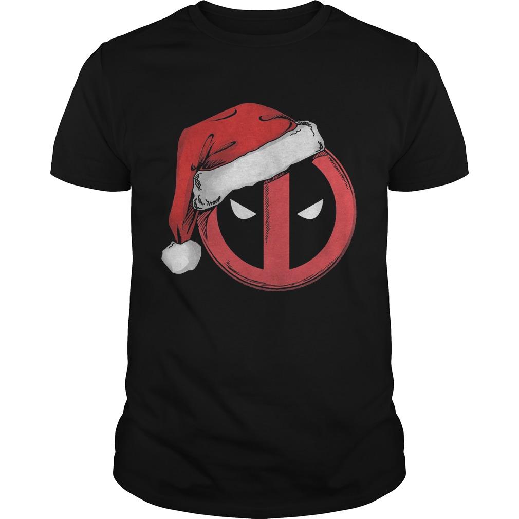Marvel Christmas Deadpool Santa Hat T Shirt