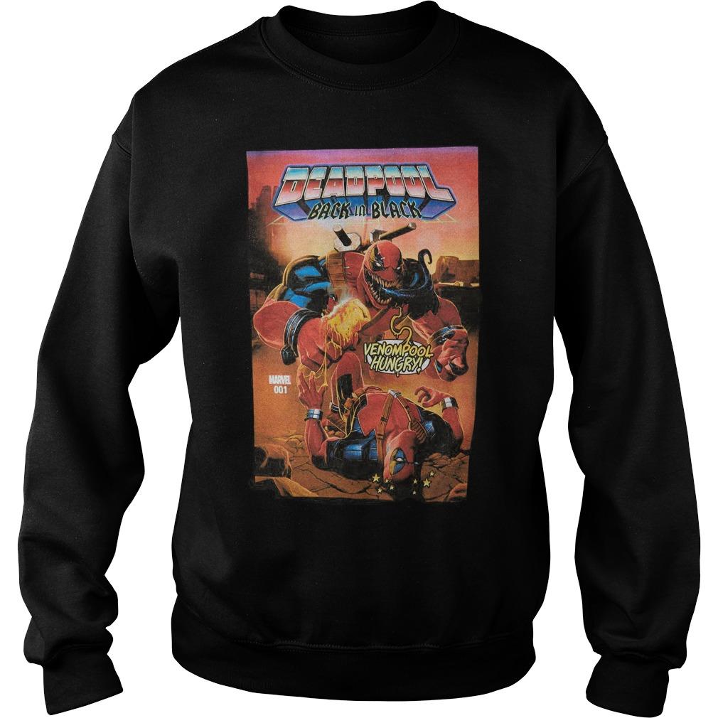 Marvel Deadpool Back In Black Hoodie