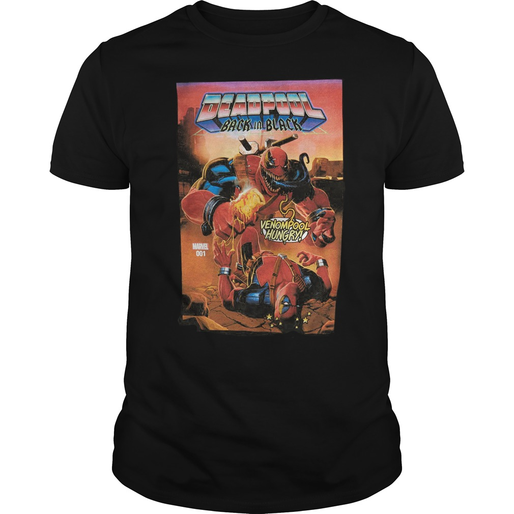 Marvel Deadpool Back In Black T Shirt