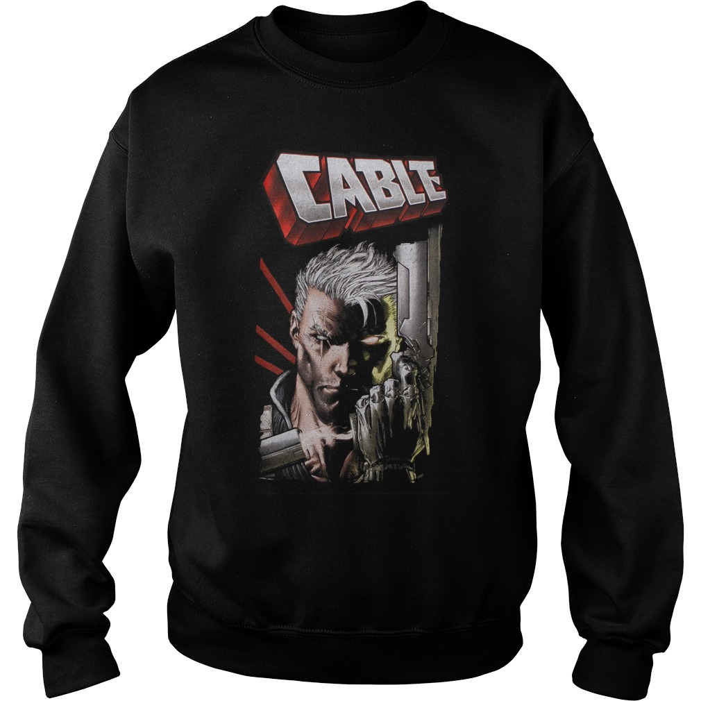 Marvel Deadpool Cable Close Up Sweater