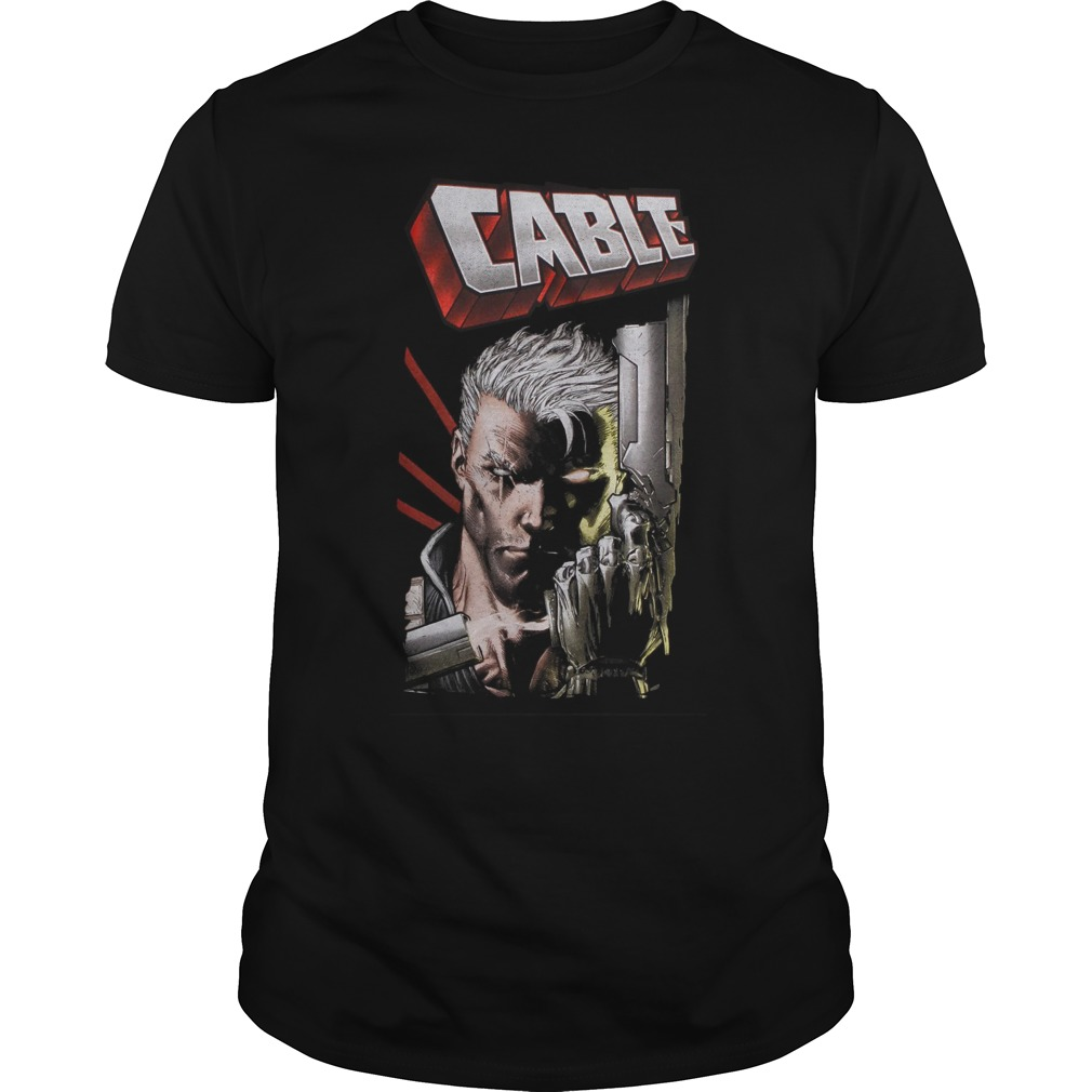 Marvel Deadpool Cable Close Up T Shirt