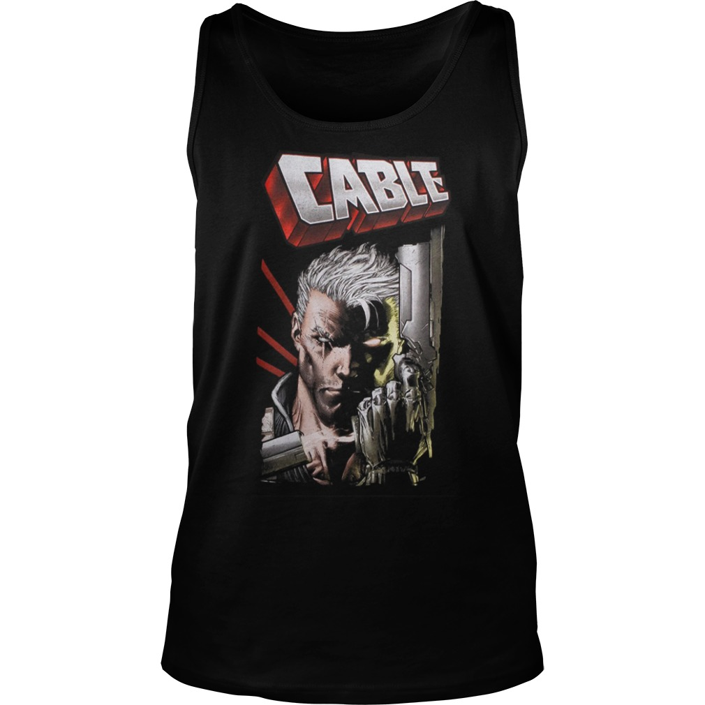 Marvel Deadpool Cable Close Up Tank Top