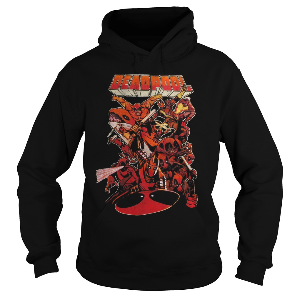 Marvel Deadpool So Many Deadpools Hoodie