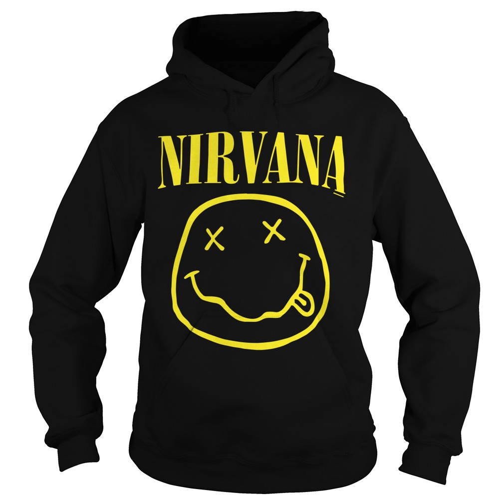 Nirvana Smiley Face Hoodie