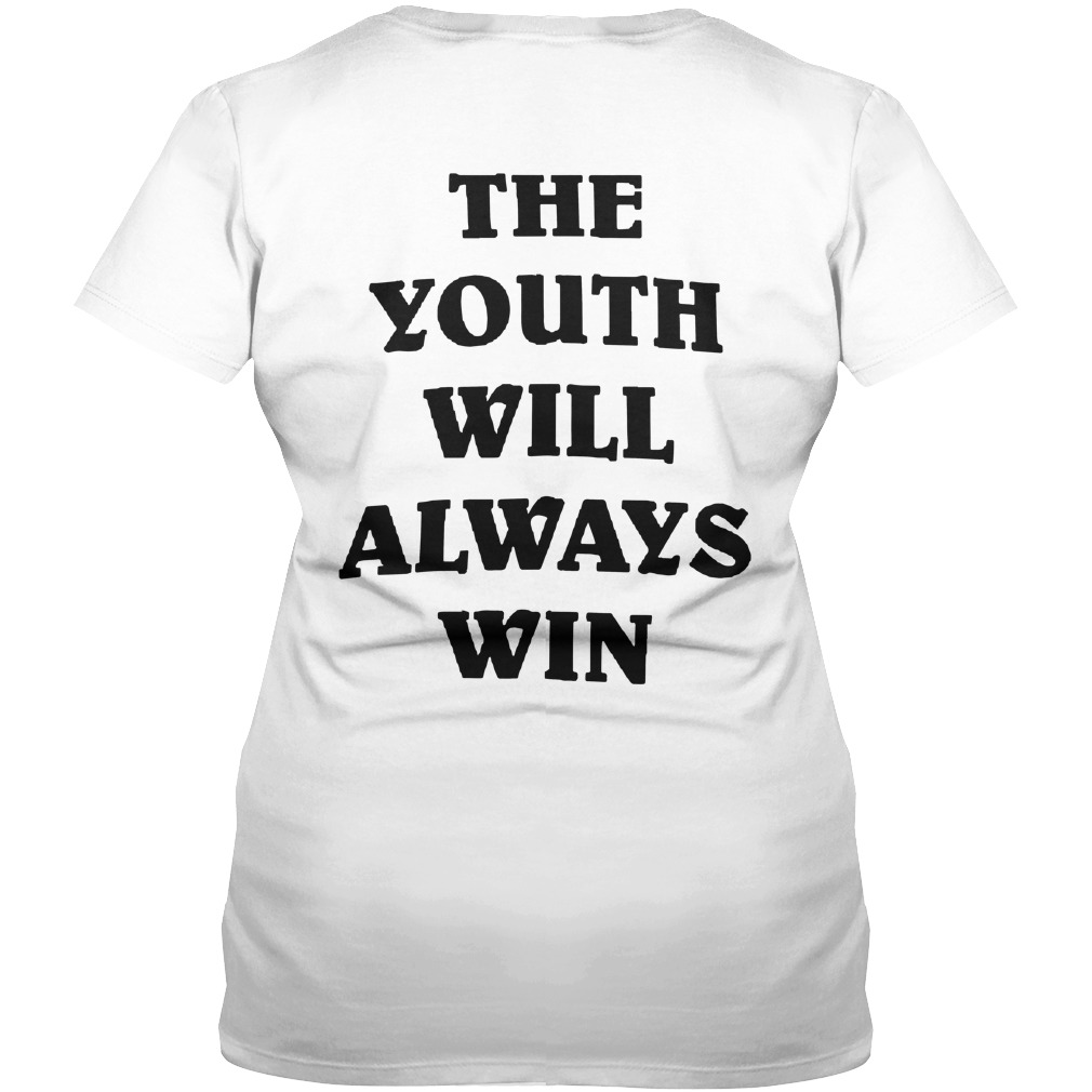 The Youth Will Always Win Ladies V Neck