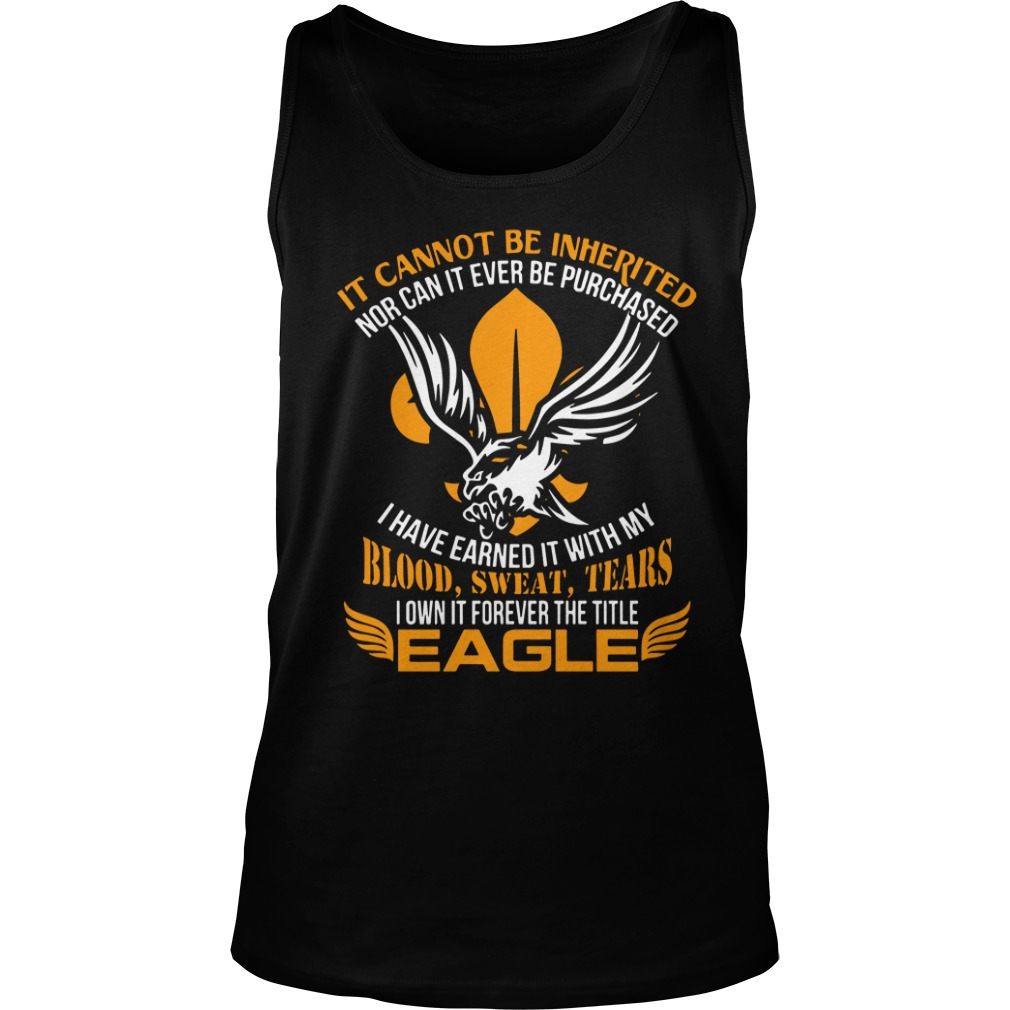 It Cannot Be Inherited Eagle Tank Top