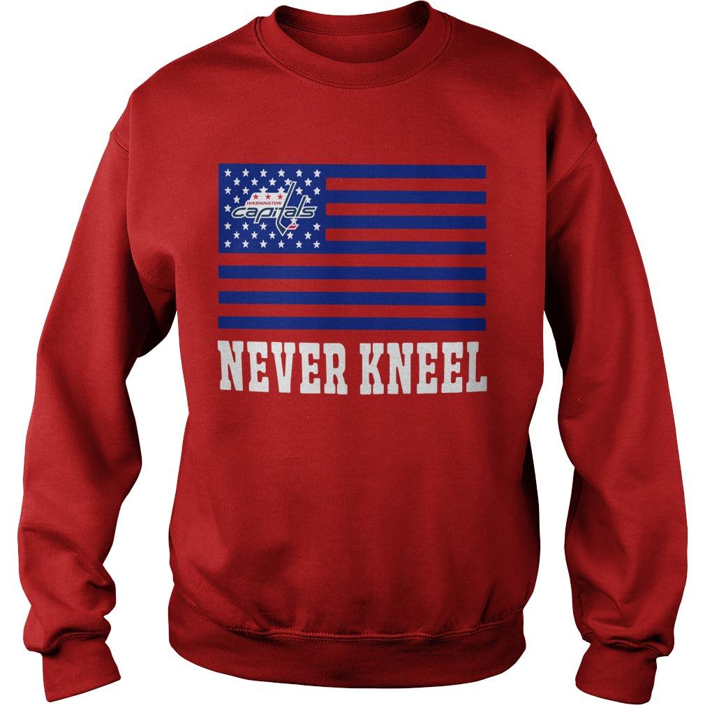 c0cfabacf Never Kneel Capitals T Shirt - Ovechkin Never Kneel Shirt